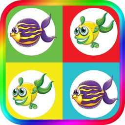 Fish Match Game for Kids brain training game For Toddlers