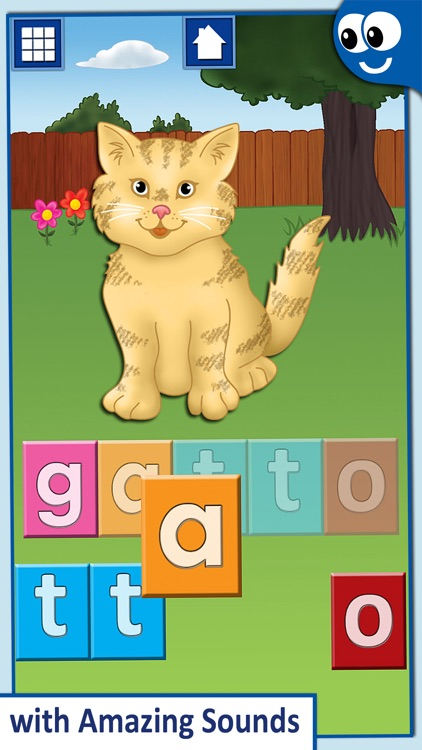 Italian First Words with Phonics: Kids Preschool Spelling & Learning Game screenshot-3