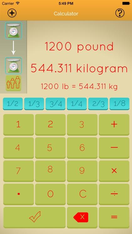 Kitchen Recipe Calculator Pro screenshot-3