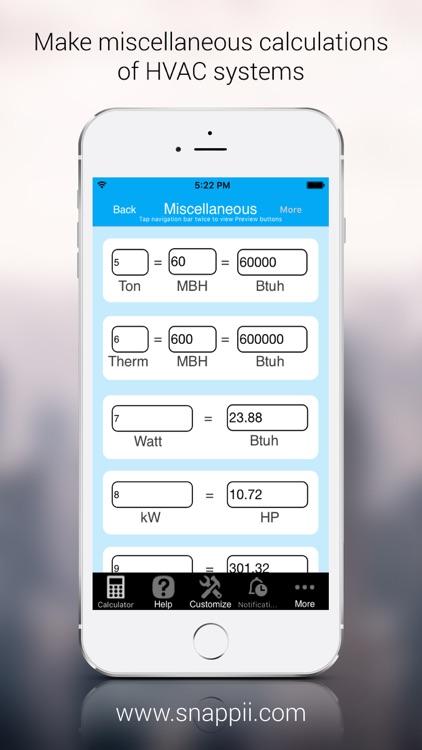 HVAC Calculations Manager screenshot-3