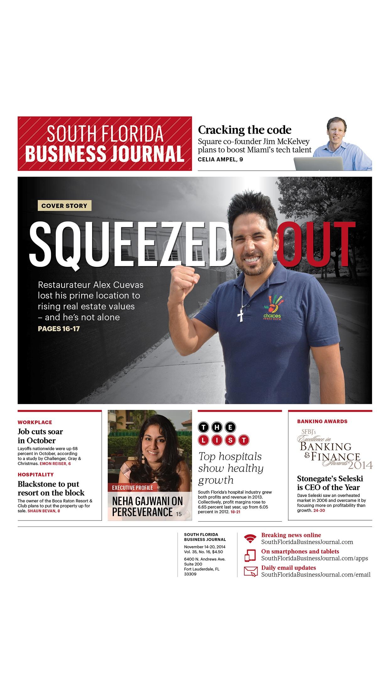 South Florida Business Journal Screenshot