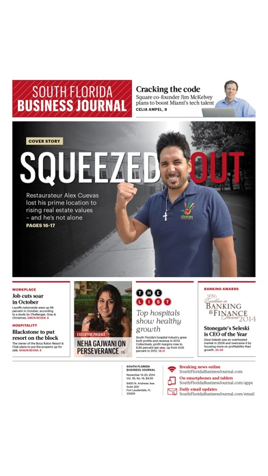 South Florida Business Journal review screenshots