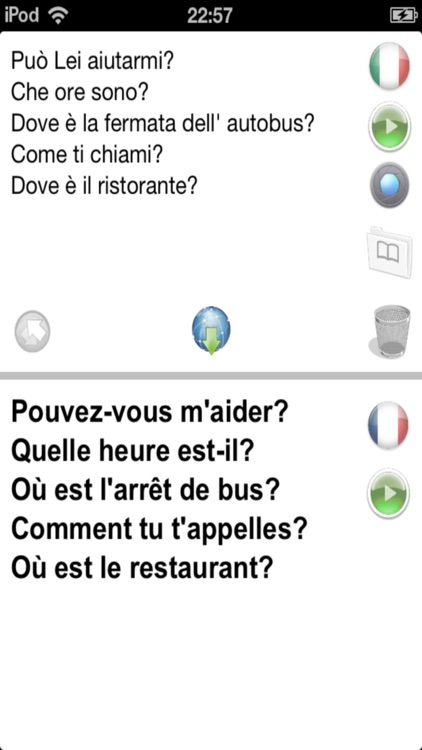 Fr-It Offline Photo Translator and Dictionary with Voice - translate text and pictures without Internet between French and Italian