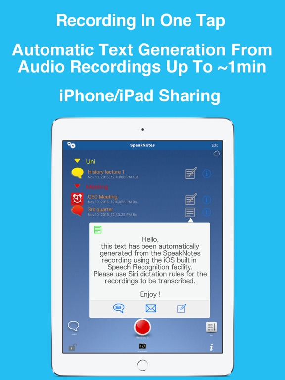 SpeakNotes - Audio Recorder  | App Price Drops