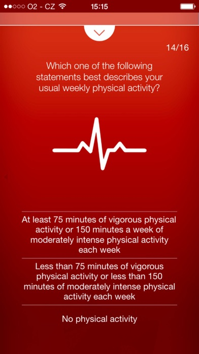 Heart Test - risk calculator of heart attack screenshot one