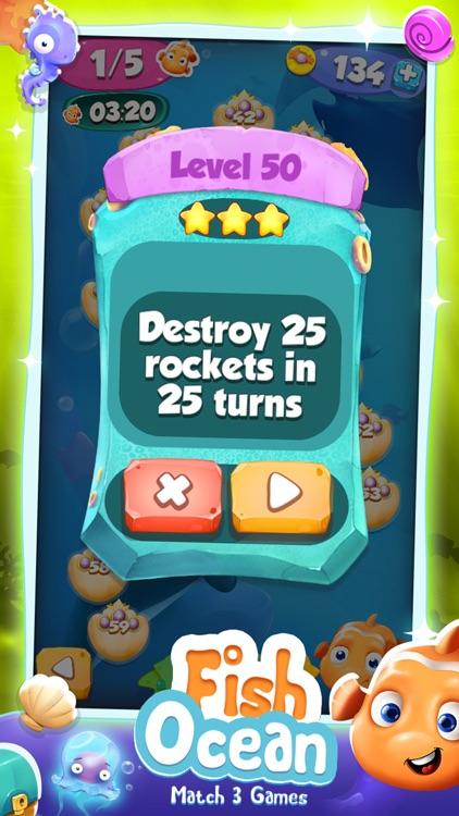 Fish Ocean Match 3 Games: Adventure Matching Mania screenshot-4