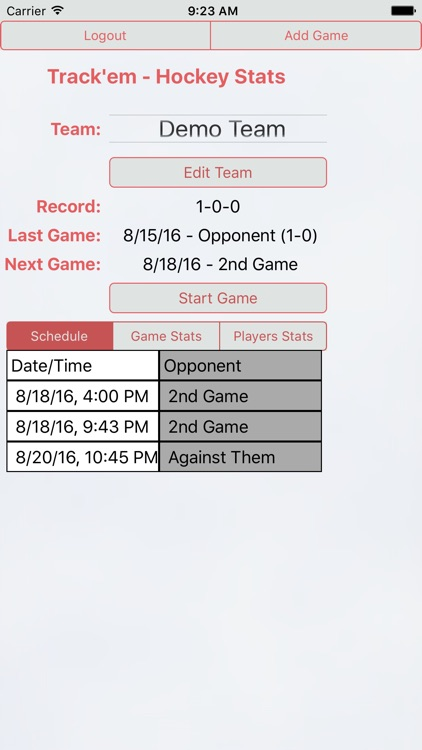 Track'em Live - Hockey Stats screenshot-1