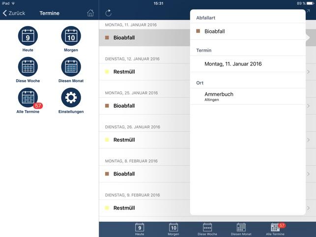 Abfuhrtermine ALBA im App Store