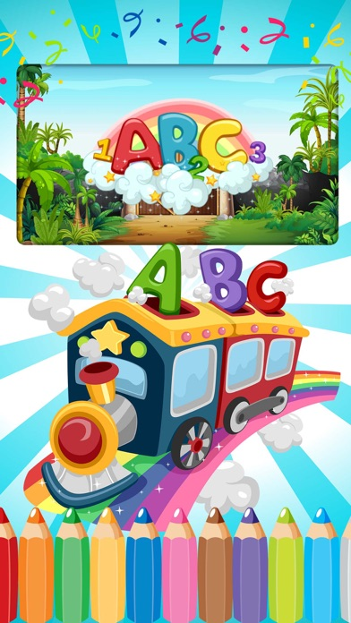 English Alphabet Abc Easy Draw Coloring Book Education Games For Kids screenshot one