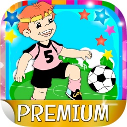Football stickers and soccer adhesives for photos - Premium