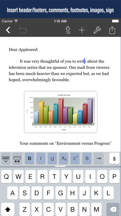 Скриншот №2 к Textilus Pro Word Processor