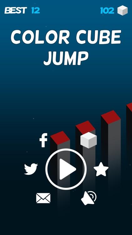 Color Cube Jump Fall Down Games screenshot-4