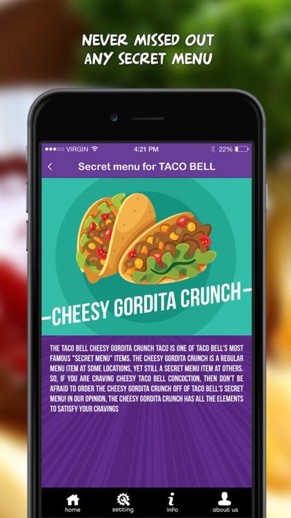 Secret Menu for Taco Bell screenshot-3