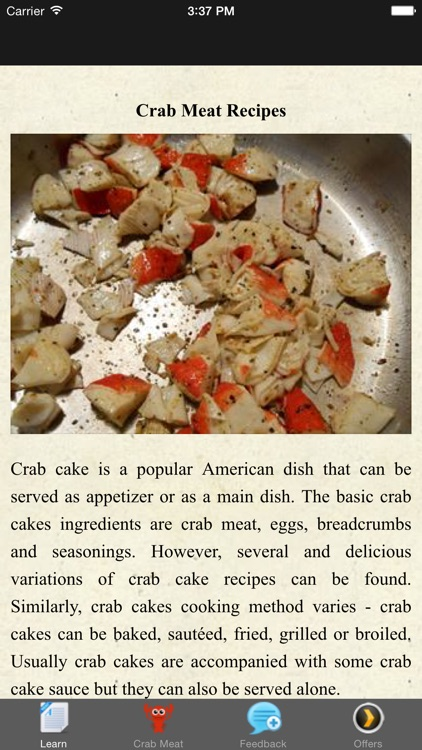 Crab Meat Recipes - Appetizer Ideas