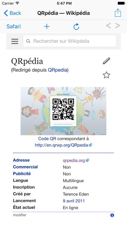 QRpedia screenshot-4