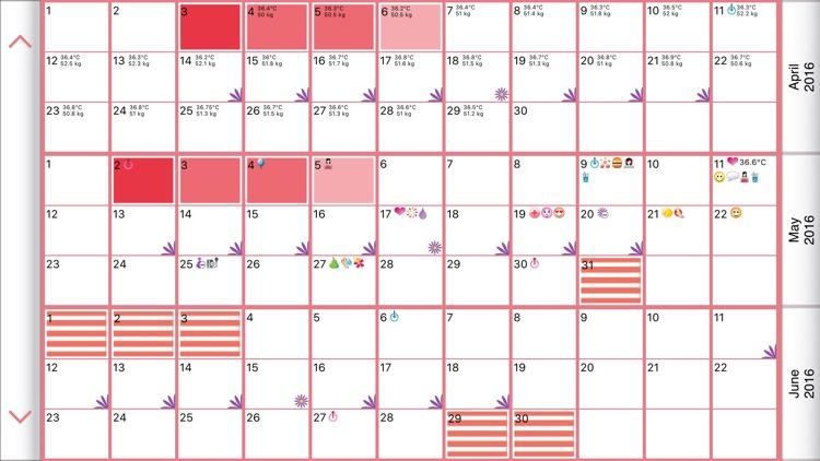 WomanLog Pro Calendar screenshot-4