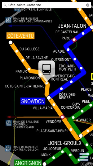 Subway Map Montreal.Metromap Montreal Subway Map On The App Store
