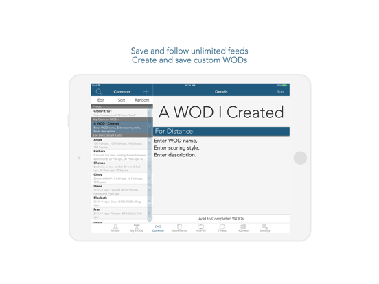 myWOD - All-in-One WOD Log for XF Workouts (NOT AFFILIATED WITH CrossFit Inc) screenshot
