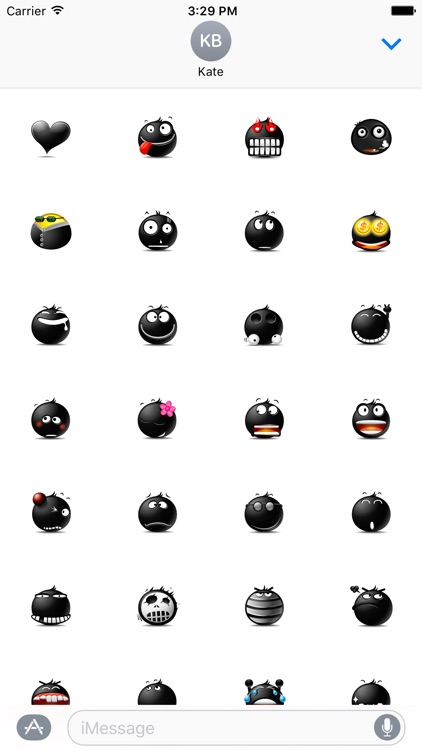 Black Emojis Stickers Pack for iMessage screenshot-3