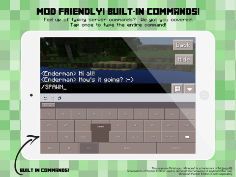 PE Servers - Custom Keyboard for Minecraft Pocket Edition | App Price Drops