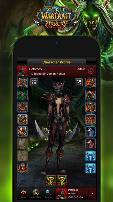 WoW Mobile Armory Screenshot