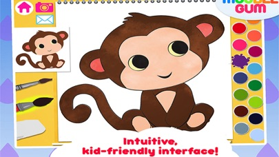animal coloring book & Art Studio - painting app for children  - learn how to paint cute jungle animalsのおすすめ画像3