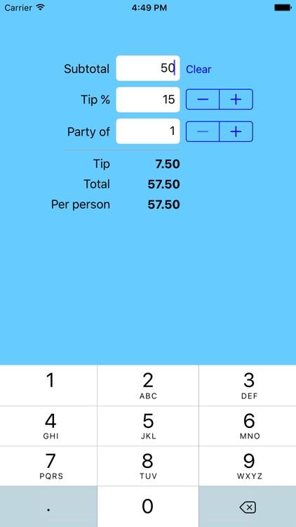 Tipper Tip Calculator