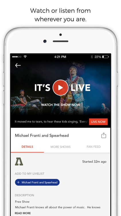 LiveList: Live Stream Concerts screenshot-3