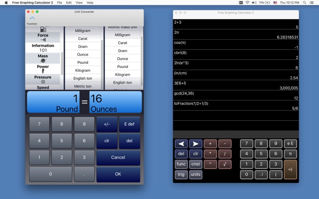 Free Graphing Calculator 2 on the Mac App Store