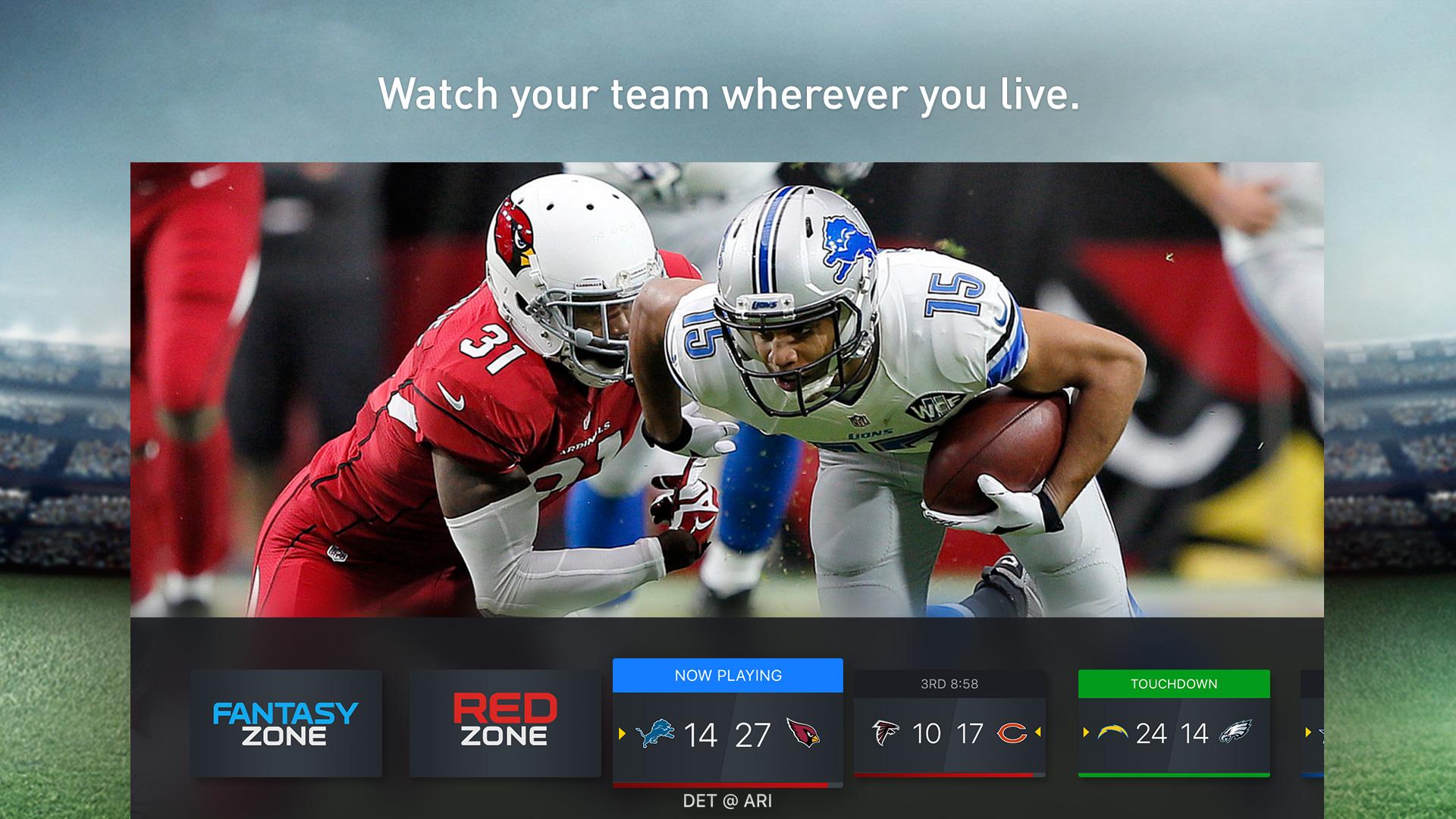 NFL SUNDAY TICKET for Apple TV screenshot 1