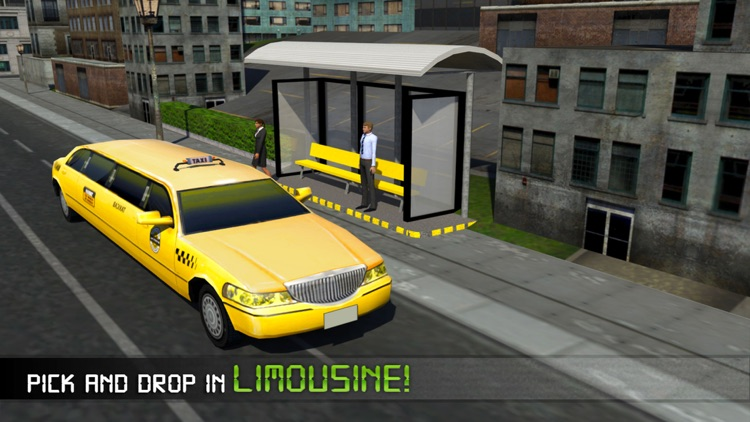Electric Car Taxi Driver 3D Simulator: City Auto Drive to Pick Up Passengers screenshot-3