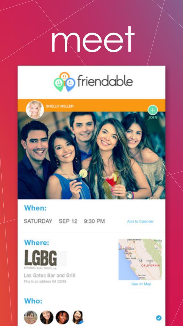 Friendable - find, message & meet new people Screenshot