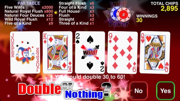 Wild Dream Poker - Deuces Wild screenshot-3