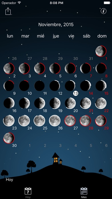 Screenshot for Calendario lunar para in Peru App Store