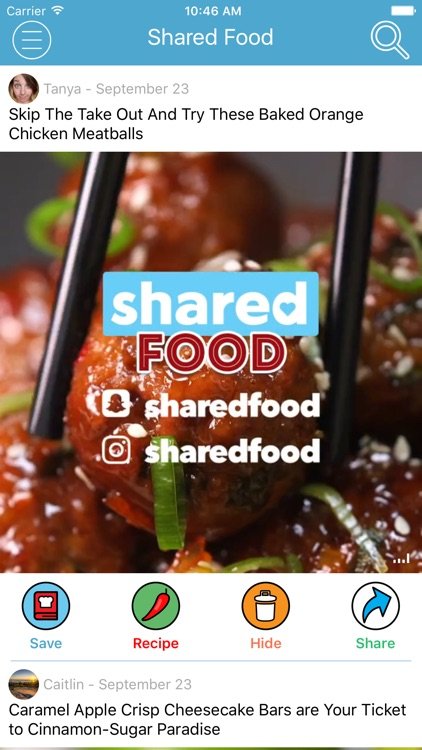 Shared Food - Cooking Videos