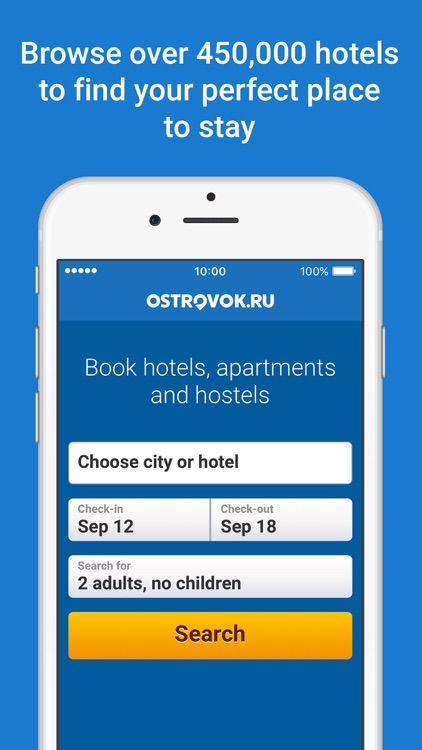 Ostrovok – hotel booking
