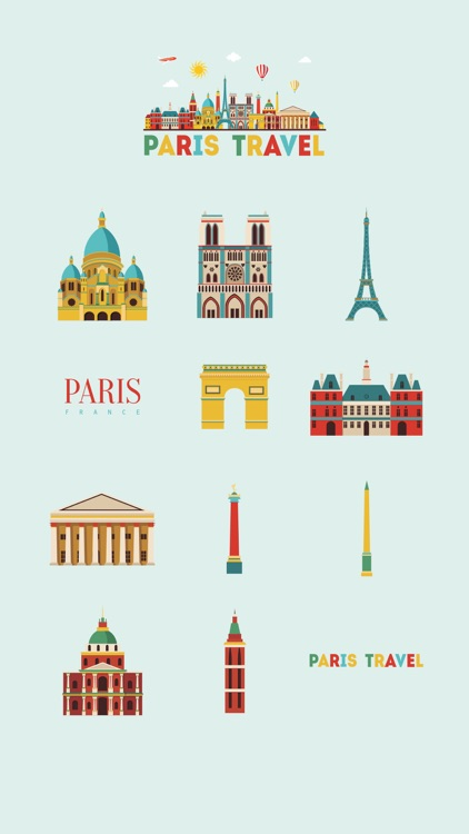 Paris France Stickers