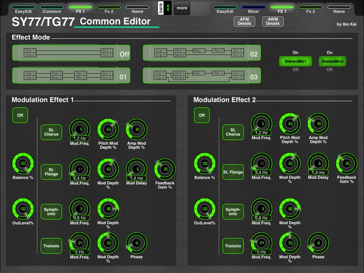 MD77: Voice Editor for Yamaha SY77/TG77 by Ibo Kai