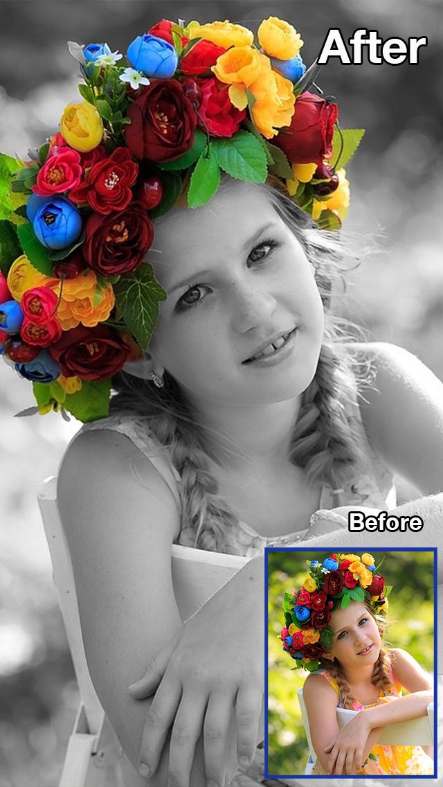 Screenshot 6 for color recolor effects photo splash fx and paint highlights into black