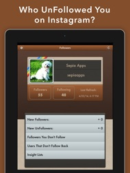 UnFollowers for Instagram + ipad images