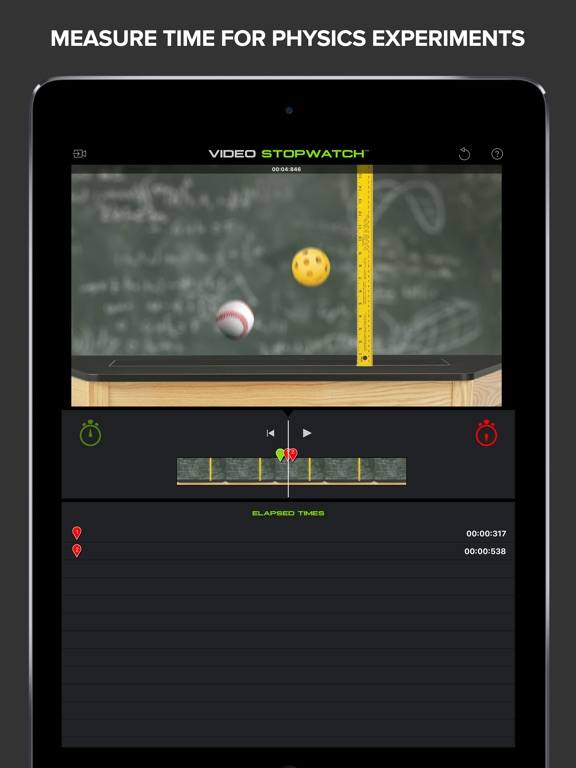Screenshot #2 for Video Stopwatch - Time Analysis for Sports and Physics