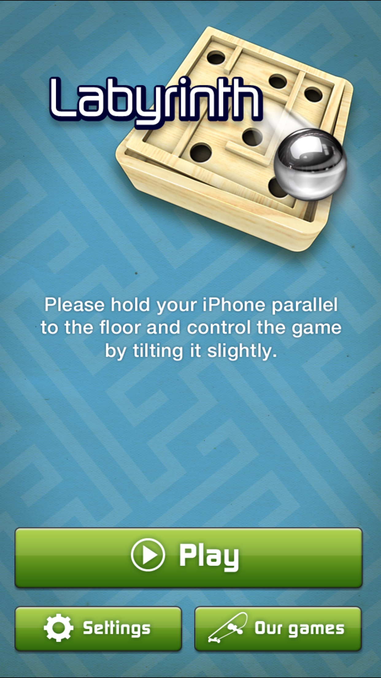 Screenshot do app Labyrinth