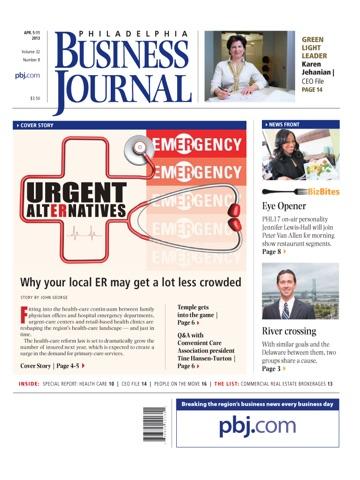 Screenshot of Philadelphia Business Journal