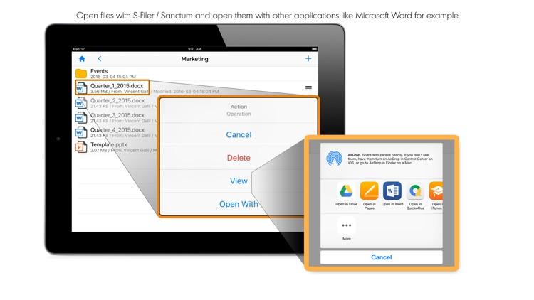 S-Filer/Sanctum Mobile Client