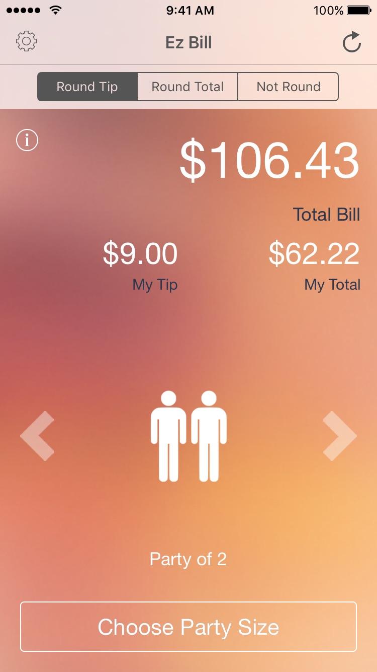 Ez Bill - Tip Calculator Screenshot