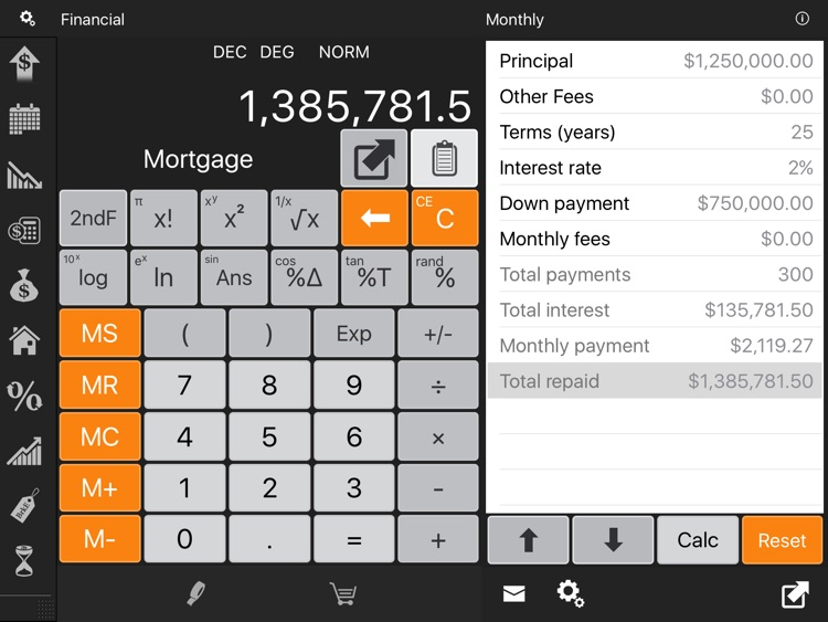 Financial Calculator HD