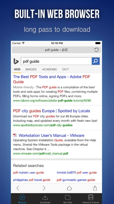 Download i.Files - File Manager & Offline Browser for Pc