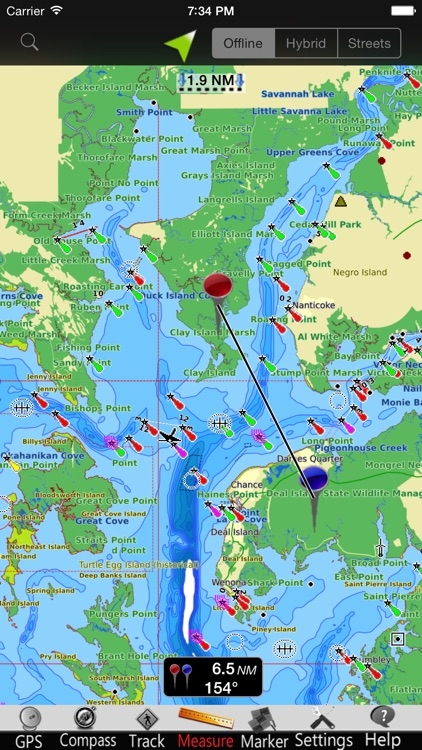 Maryland GPS Nautical charts