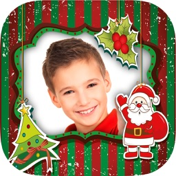 Christmas photo frames  for kids - Photo editor to create xmas cards for children and babies