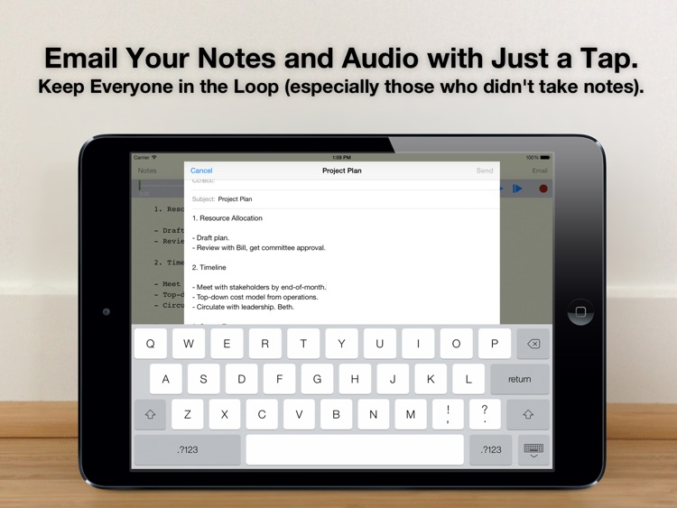 Audio Notebook: Sound Recorder, Notepad, Organizer screenshot-4